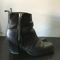 Acne Black Pistol Ankle Boots Size 37  Photo