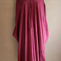 Acne Blood Red Maroon Silk Drape Dress Photo
