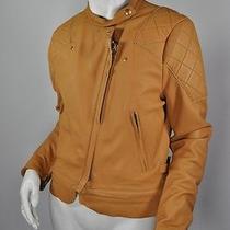 Acne Caramel Lamb Leather Motorcycle Jacket Sz38 Photo
