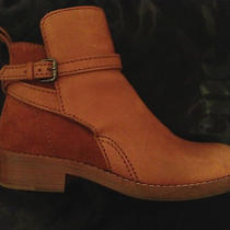 Acne Clover Ankle Boots in Chestnut Sz 39 Leather Suede Pistol Photo