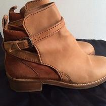 Acne Clover Boots Leather Suede Chestnut Women's 41 10 Jodhpur Ankle Photo
