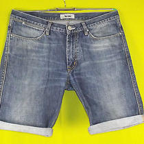 Acne Cut-Off Denim Shorts  34