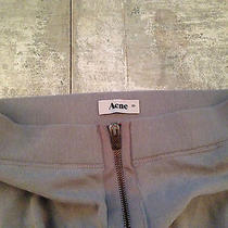 Acne Grey Zipper Ruched Legging Sweden Photo