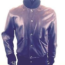 Acne Jeans Brown Leather Bomber Jacket Beautiful Photo