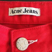 Acne Jeans Tube Red Size 31/32 Good Condition Stockholm Sweden Photo