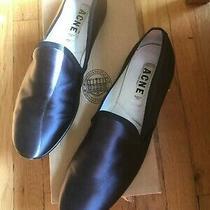 Acne Khol Slipper Flat Shoes - Grey/black Size 11/41 Worn Once Photo