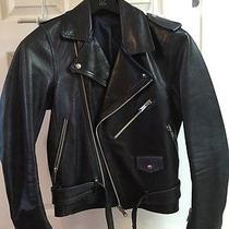 Acne Leather Motorcycle Jacket Photo