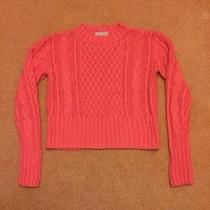 Acne Lia Cable Knit Sweater Pink S Photo