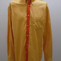 Acne Long Sleeve Shirt Yellow Orange Sweden Designer  Photo