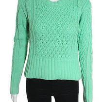Acne Mint Green Cable Knit Crewneck Sweater Sz Xs Photo