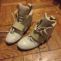 Acne Off White Leather Trainners Sneakers Photo