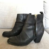 Acne Pistol Boot Black Leather Size Eu 38 Photo