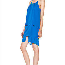 Acne Satya Tape Tiered Dress in Klein Blue Size 34 Us 4 Photo