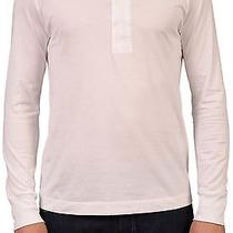 Acne Solid White Cotton Henley Top New Us L Photo