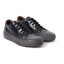 Acne Studio Adrian Glazed Elaphe Low Top Sneakers Size 42 (Us 9) Photo