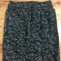 Acne Studio Denim Stretch Pencil Wiggle Skirt Size Small W27 Animal Print Denim Photo