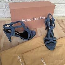Acne Studios Bira Suede High Heels Sandals 38 Photo