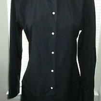 Acne Studios Black Cotton Blend Shirt Dress W/ Drop Waist - Size 38 Photo