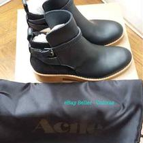 Acne Studios Black Leather Clover Jodphur Boot Sz 39 8.5 New Box Free Shipping Photo