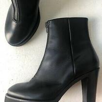 Acne Studios Black Leather Zip Platform Ankle Boots Size 41 /us 10 Photo