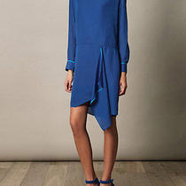 Acne Studios Blue Adelle Tape Dress With Draped Cut Out Back Fr 40 Uk 12  Photo