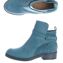 Acne Studios Blue Clover Ankle Boots Sz38 8 Leather & Suede Totokaelo Lagarconne Photo