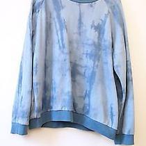 Acne Studios Blue Denim Tie Dye Print Brian Sweatshirt Sz L Photo