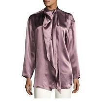 Acne Studios Bodil Satin Purple Blouse - Size 36 Photo