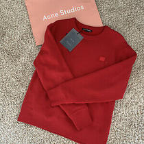 Acne Studios Classic Fit Red Sweatshirt Photo