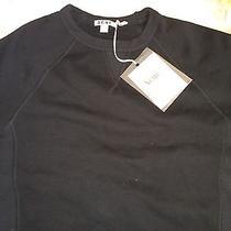 Acne Studios College Loopback Cotton Jersey Sweatshirt Black Size Medium Photo