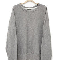 Acne Studios College Mens Grey Sweatshirt Pullover Sweater Jumper - L Photo