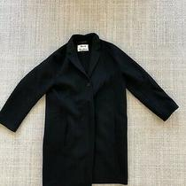 Acne Studios Elsa Double Black Wool Cashmere Coat 36 Euc Photo