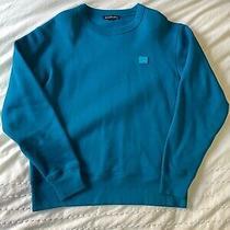 Acne Studios Fairview Crewneck Sweatshirt Blue Size Medium Photo