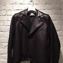Acne Studios Gibson Leather Jacket Matte Black 50 Like New Photo