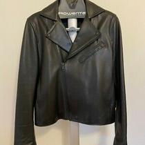 Acne Studios Gibson Mens Black Leather Jacket Size 52 Photo