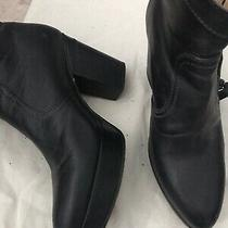 Acne Studios High Heel Ankle Booties Black Leather Size 38 8 Photo