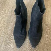 Acne Studios Jensen Black Suede Chelsea Boots Pointy Toe It 38/ Us 8 Photo