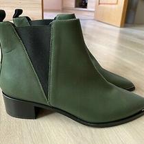 Acne Studios Jensen Hunter Green Leather Boots Shoes Women's Size - Eu 39 / Uk 6 Photo