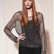 Acne Studios Knitted Metalic Sweater Dark Grey Metalic Size 36 Photo