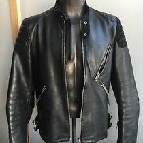 Acne Studios Moto Oliver Chevron Leather Jacket Cafe Racersize 52 Photo