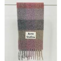 Acne Studios Multi Check Scarf Muffler Fuchsia/lilac/pink Photo