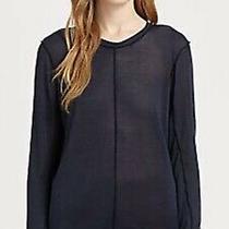 Acne Studios Nell Silk Fine Knit Open Back Sweater Navy Xs Photo