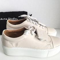 Acne Studios Nude/ White Drihanna Platform Leather Sneakers Size 41 Photo