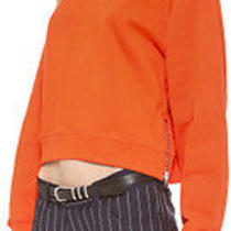 Acne Studios Orange Bird Fleece Sweatshirt. New Photo