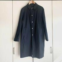 Acne Studios Over Coat Size 48 for Men Navy Used Good Condition Cotton Photo
