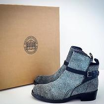Acne Studios Ponyhair Gray/blue Clover Ankle Booties Eu 38 Us 8 Shoes Boots Photo