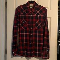 Acne Studios Pop Classics Western Flannel Plaid Aw10 Red Blue Shirt Top 50 M Photo
