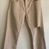Acne Studios 'Pop Pink Trash' Distressed Pale Pink Denim  Cropped Jeans Size 30 Photo
