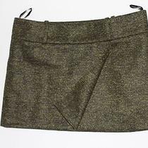 Acne Studios Roxy S Tv Womens Mini Skirt Wool Green Melande Size 40 Photo