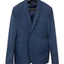 Acne Studios Stan J Ct Ss15 Blue Cotton Mens Slim Blazer Jacket - Eu 48 Photo
